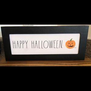 "NWT Rae Dunn ""Happy Halloween"" Wood Sign"